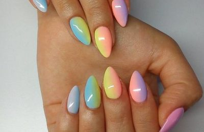 40+ Pretty Multicolored Nail Art Designs For Spring and Summer 2020