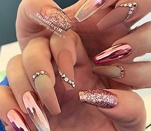 38 Wonderful pink Nail Art Design Ideas