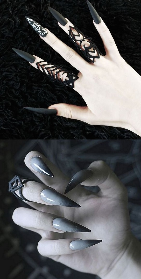 35 Irresistible black and white matching nail styling awesome black and white mash-up nail styling